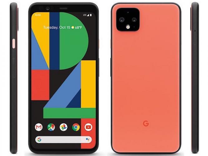 Google Pixel 4 front back and sides image