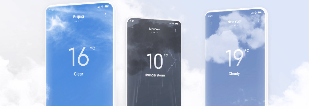 miui 12 weather widget display