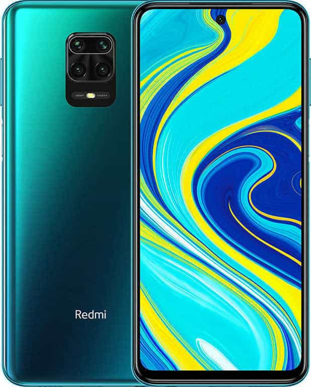 redmi note 9 pro front and back image