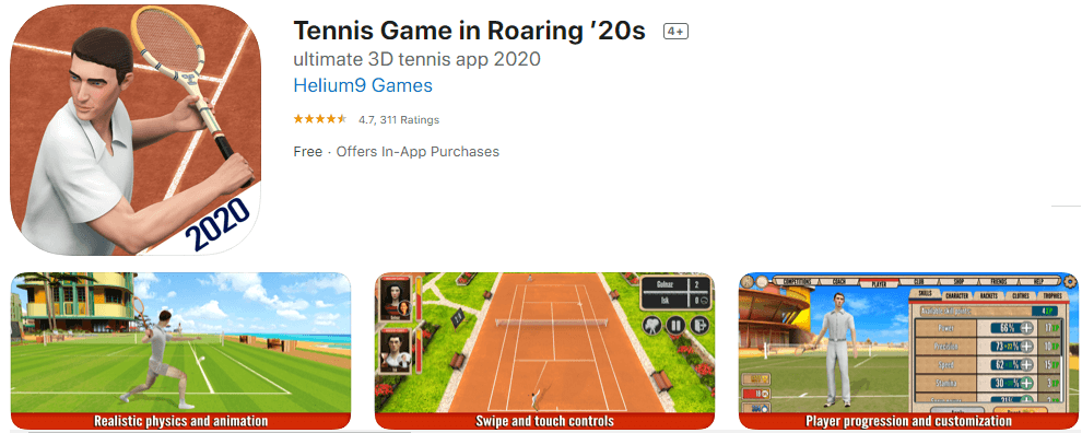 tennis game front image