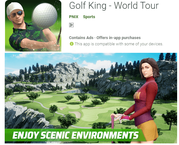 golf king front image