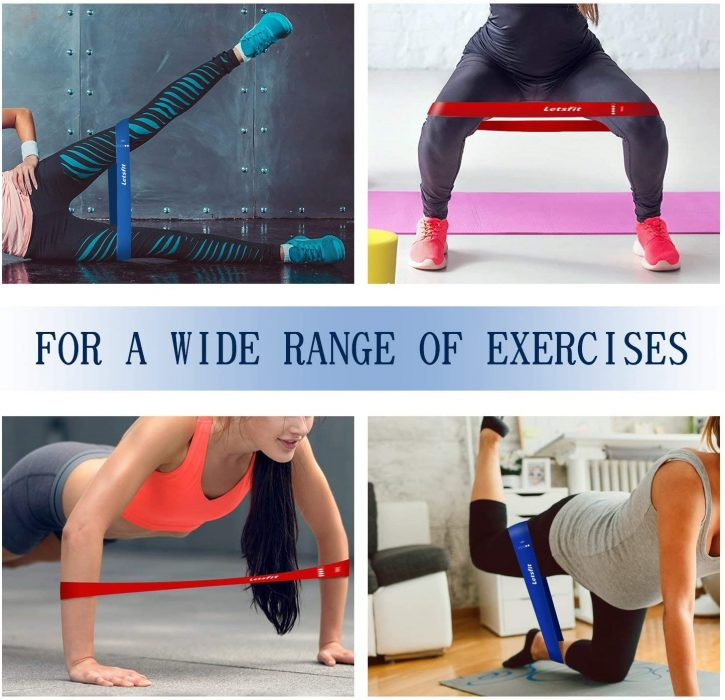 Resistance Exercise Bands for Home Fitness Letsfit Resistance Loop Bands