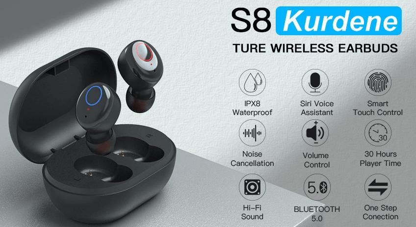 kurdene s8 wireless earbuds