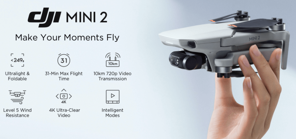 DJI Mini 2 Fly More Combo Foldable Drone with 4k HD Camera