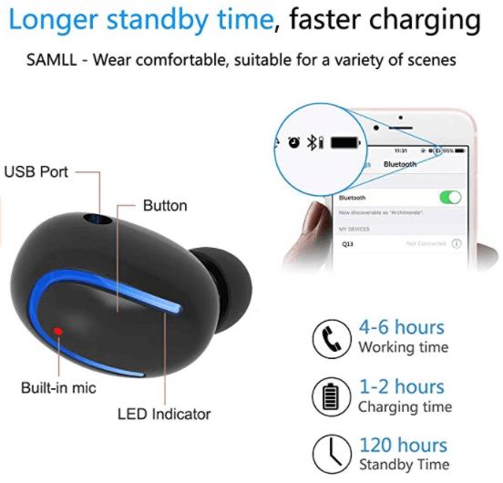 HaoTuo Q13 Mini Bluetooth Earbud