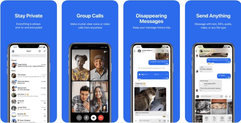 Signal Private Messenger app