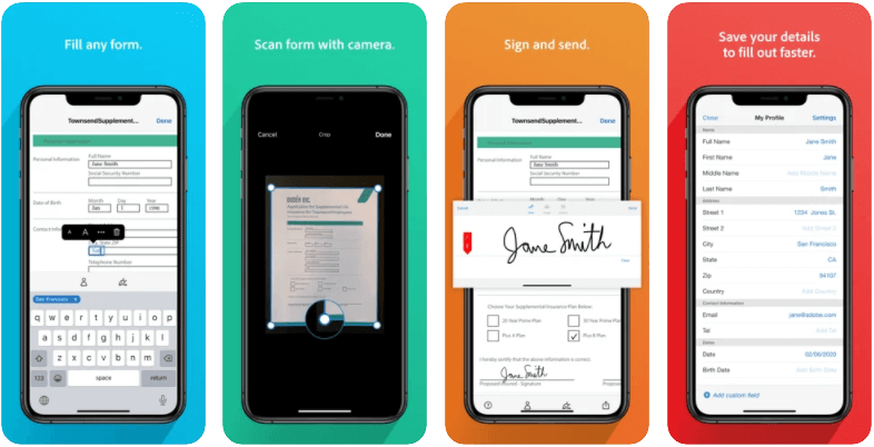 Adobe Fill and Sign App Scan Edit and Fill Docs for Free