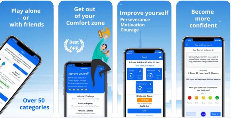 iDare Comfort Zone Challenge app