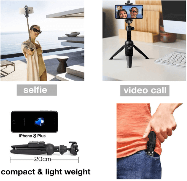 Selfie Stick with Wireless Remote Shutter