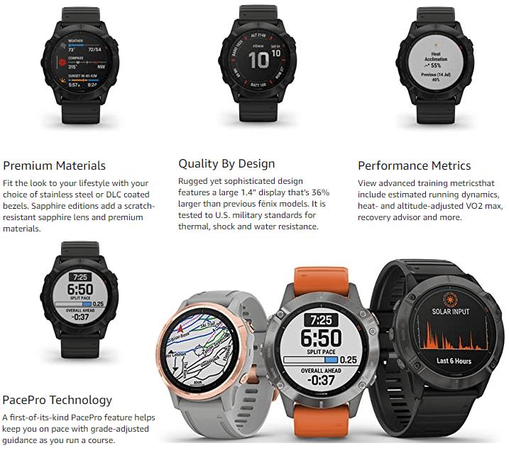 Solar Powered GPS Smartwatch