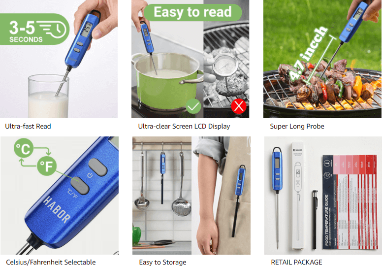 Habor 022 Meat Thermometer