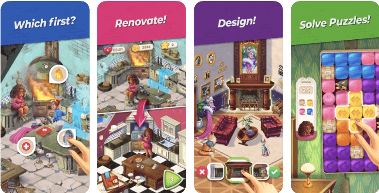 Penny and Flo Finding Home Renovate the Mansion Puzzle Game