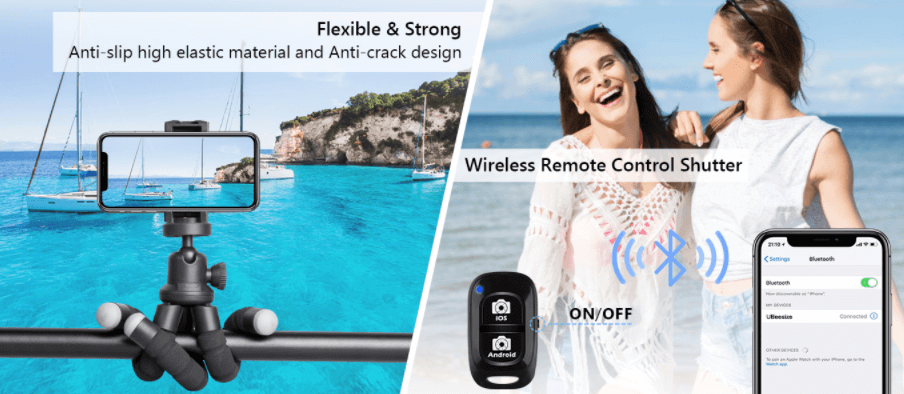 Tripod with Wireless Remote and universal clip
