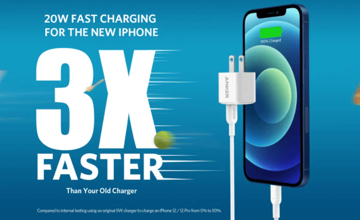 Anker 20W Fast Charger for iPhone