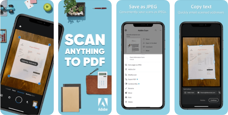 Adobe Scan scanner app