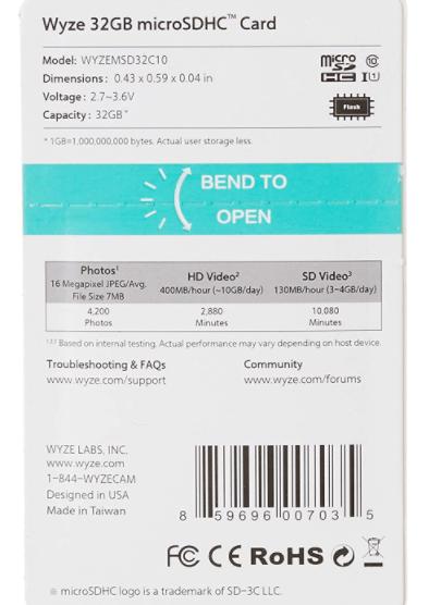 32GB MicroSDHC Card Class 10