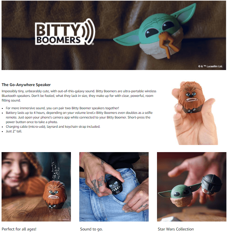 Bitty Boomers Mini Bluetooth Speaker