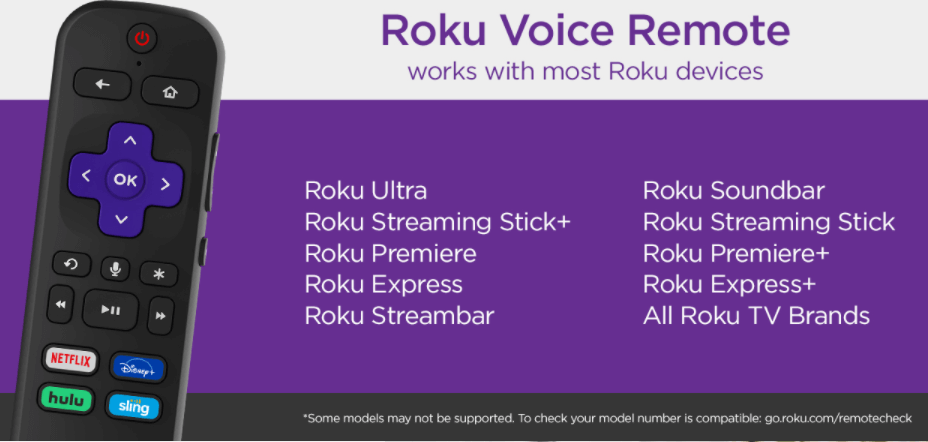 Roku Voice Remote control