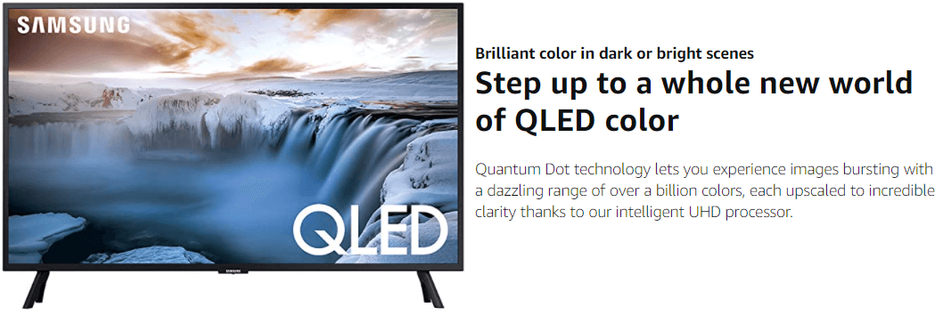 SAMSUNG Flat 32-inch QLED 4K Smart TV