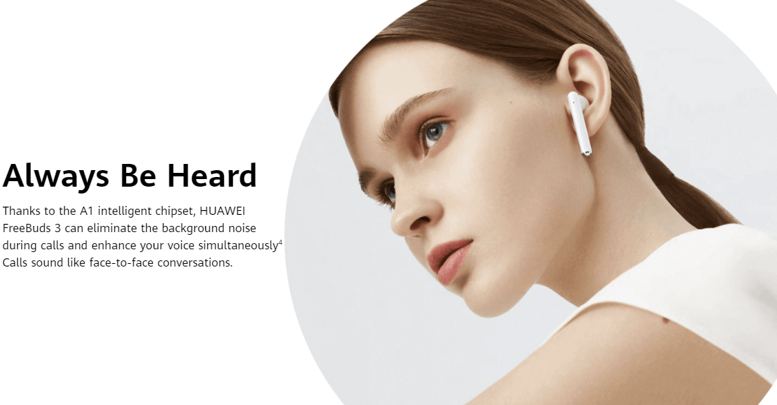 Huawei Free buds 3 Active Noise Cancellation
