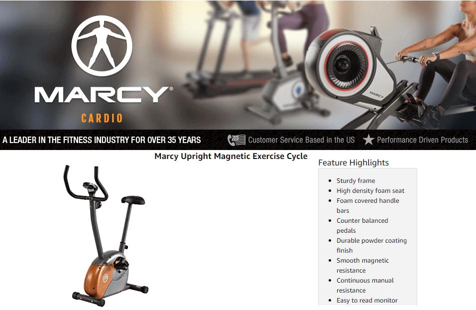 Marcy ME-708 Upright Exercise Bike