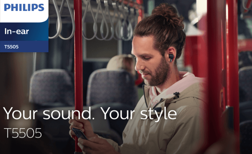 Philips Audio T5505 Wireless Earbuds