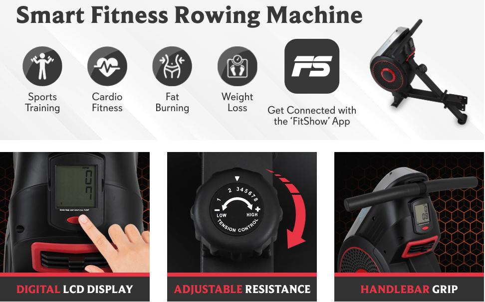 SereneLife Rowing Exercise Machine