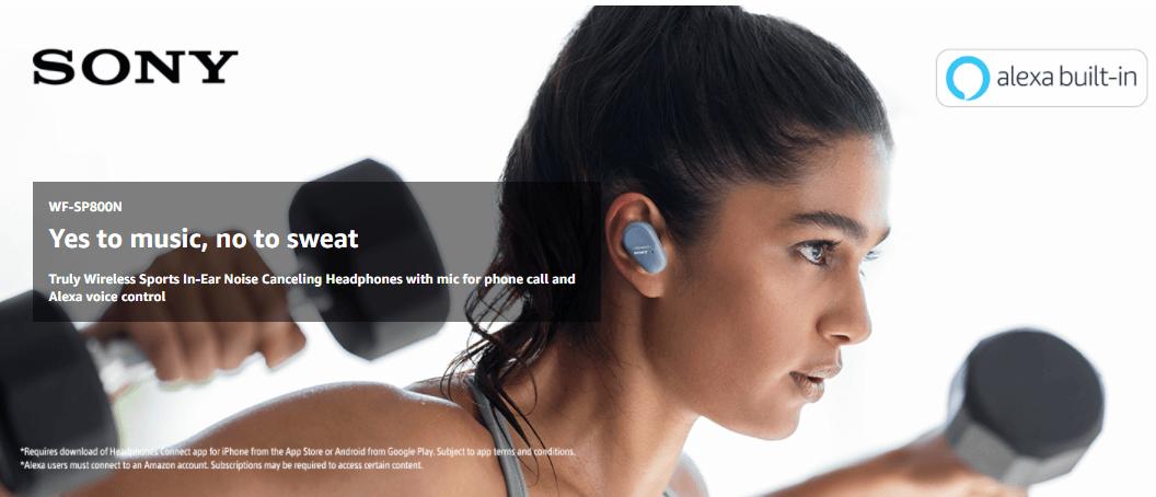 Sony WF-SP800N Wireless Earbuds
