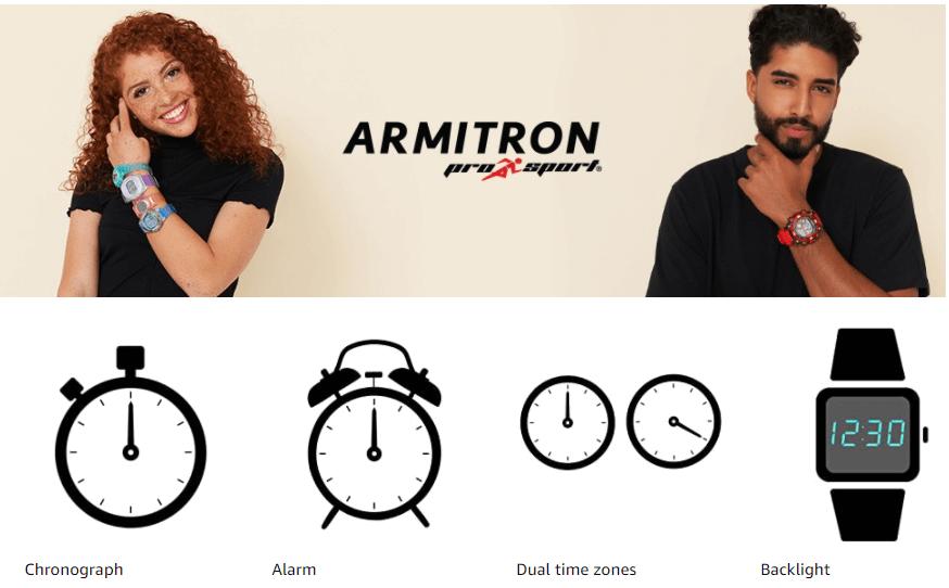 Men and Women wearing Armitron Sport Digital Strap Watch