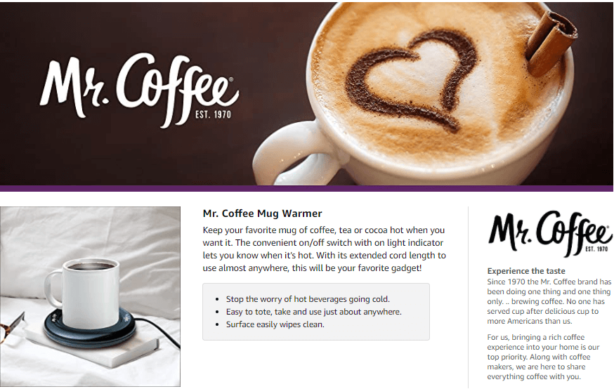 Mr Coffee Mug Warmer
