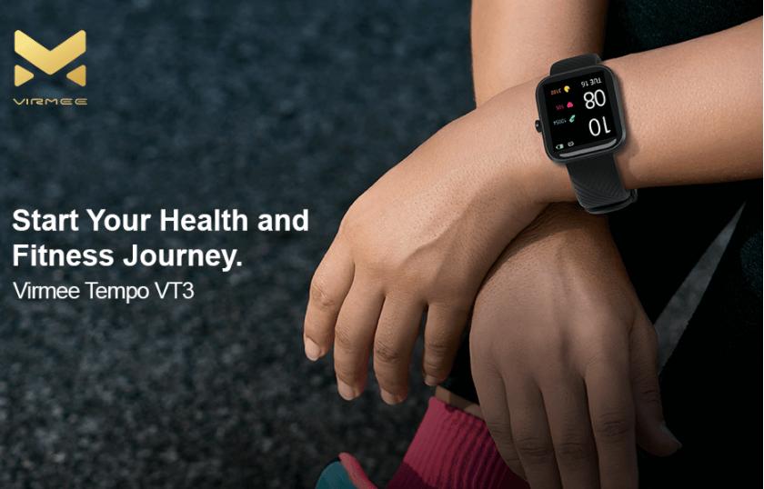 Virmee VT3 Smart Watch Fitness Tracker