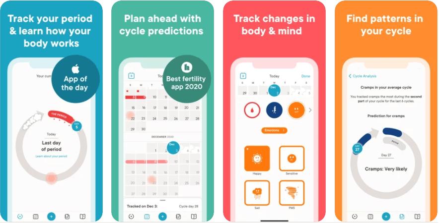 Best Health Apps for Women Clue Period Tracker