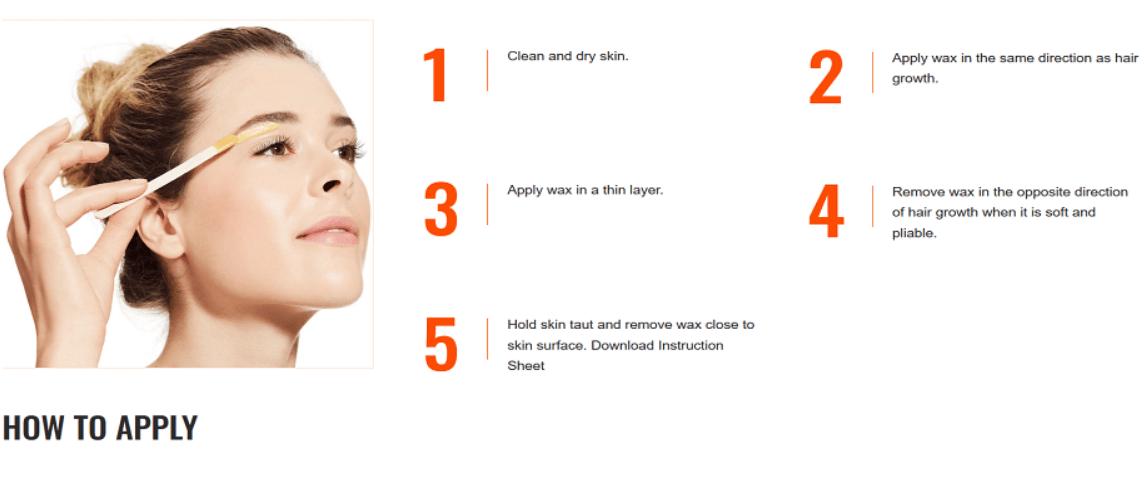 Sally Hansen Eyebrow Lip Face Wax Kit