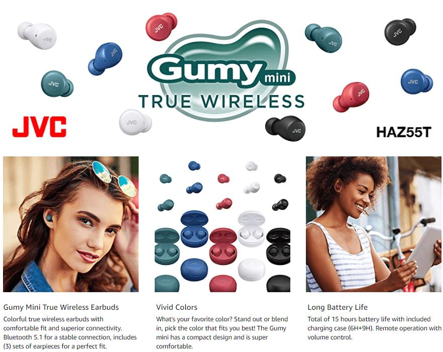 JVC Gumy Mini True Wireless Earbuds