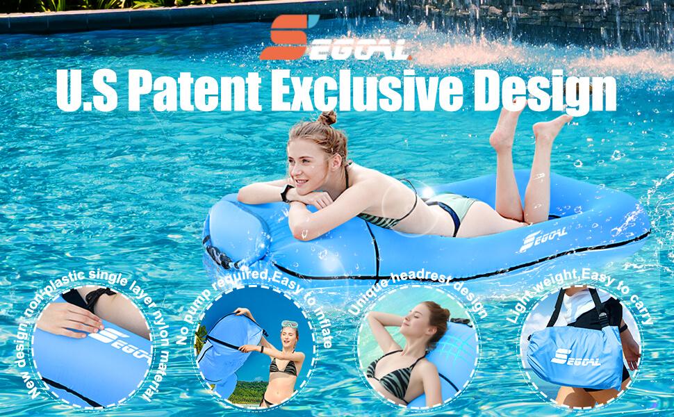 SEGOAL Pool Floating Lounger