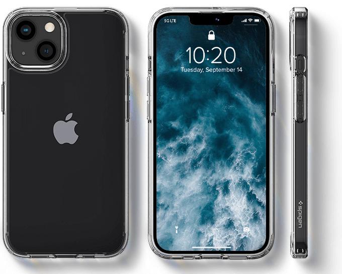 iPhone 13 Case Crystal Clear Spigen Ultra Hybrid Designed